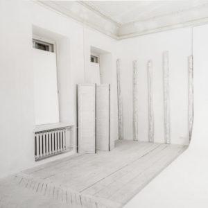Белый лофт с циклорамой в Киеве